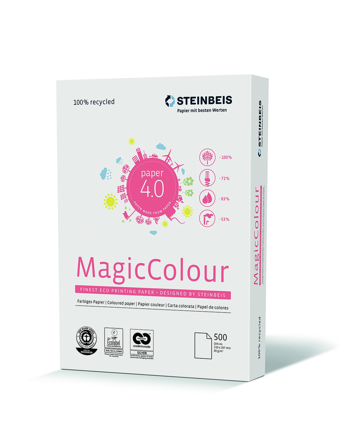 Steinbeis Magic Colour Blau, DIN A4, 80 g/m², blau