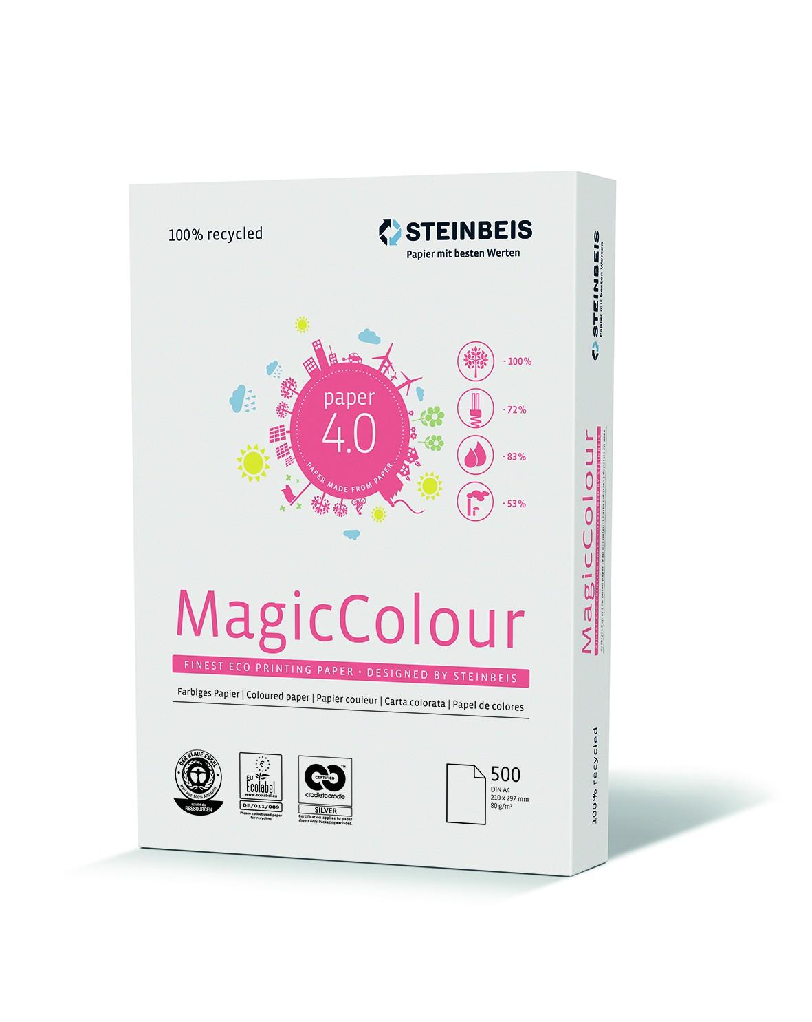 Steinbeis Magic Colour Rosa, DIN A4, 80g/m², rosa