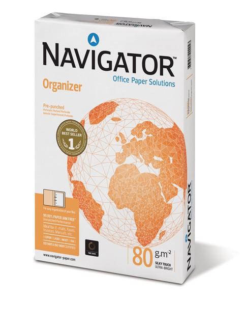 Navigator Organizer, 2-fach gelocht, DIN A4, 80g/m², weiß