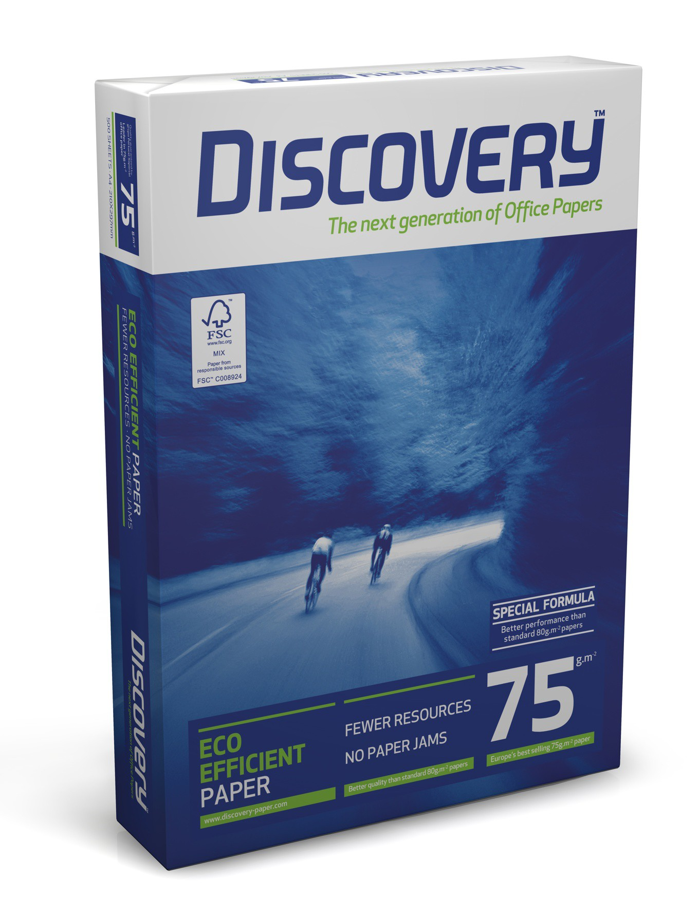 Discovery 4-fach gelocht, ungeriest, DIN A4, 75g/m², weiß